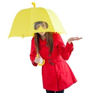 Зонты в гордеробе.