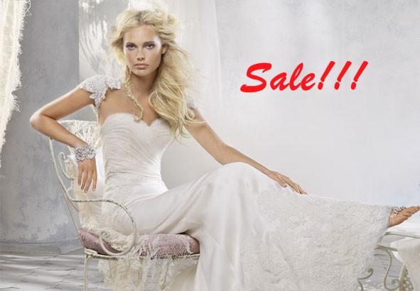 Распродажа свадебных платьев.