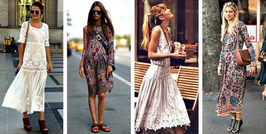 Платья в стиле Бохо - несколько фотографий из коллекции.